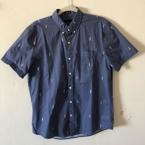 American Eagle Surfboard Button Up